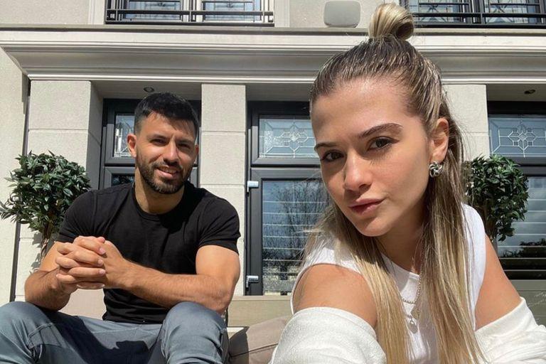 El Kun Agüero y su novia Sofía Calzetti