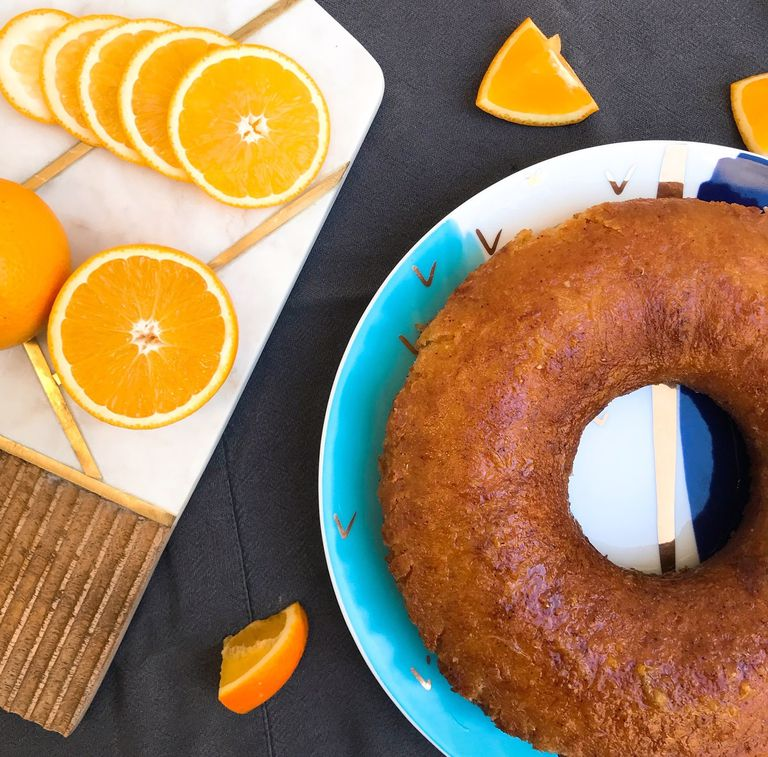 Torta de naranja almibarada
