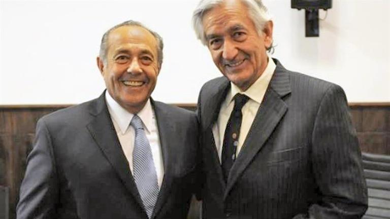 El senador Adolfo Rodríguez Saá y su hermano, el gobernador de San Luis, Alberto Rodríguez Saá