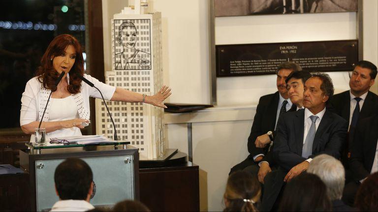 Cristina Kirchner, en la Casa Rosada