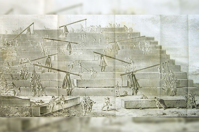 Según Zingarelli, Heródoto postuló que los faraones utilizaban mano de obra esclava para la construcción de sus tumbas