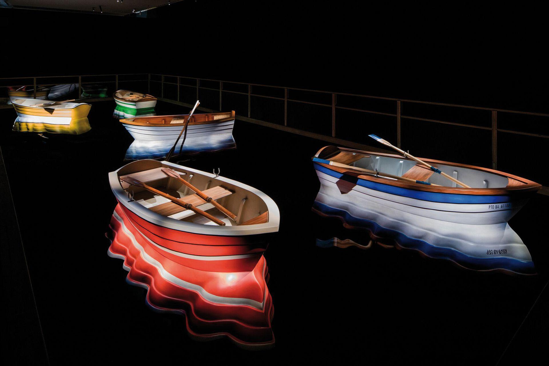 Detalle de la obra Puerto de memorias (2014), que se exhibirá en el Malba tras haberse presentado en el Hotel de Inmigrantes