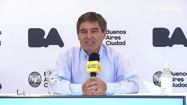 El ministro de Salud porteño, Fernán Quirós, señaló que, desde mañana, se podrán seguir, de manera online, los datos sobre la campaña de vacunación en la ciudad