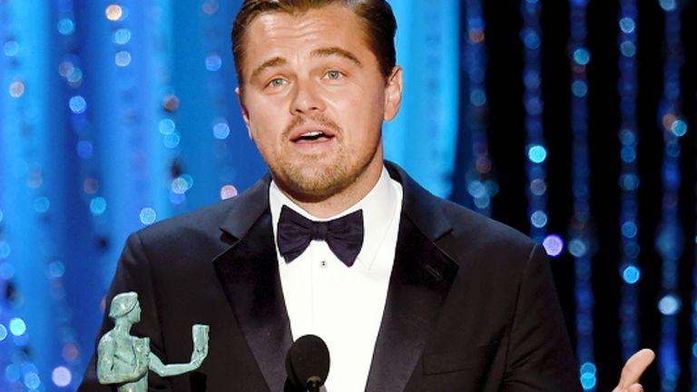 Leonardo DiCaprio, mejor actor por El renacido