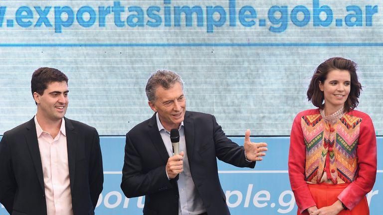 Macri ayer en un acto en Tecnópolis; allí lanzó advertencias a los deudores