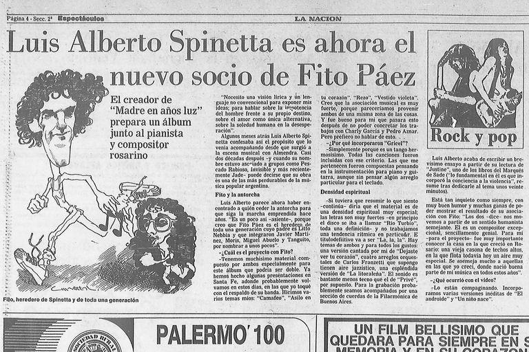 Nota del 24 de julio de 1986 sobre La La La