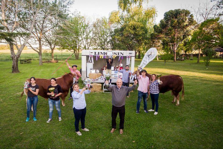 Limousin: el orgullo de la familia Lattanti por una consagración internacional
