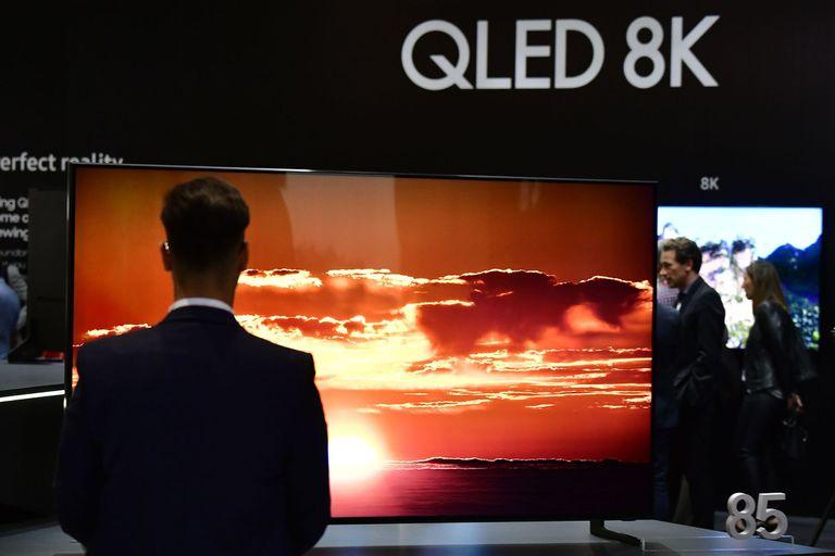 El Samsung QLED con resolución 8K que la compañía presentó en la feria IFA