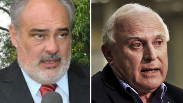 Ricardo Colombi, gobernador de Corrientes y Miguel Lifschitz, gobernador de Santa Fe