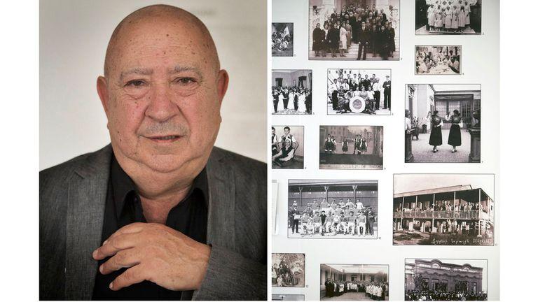 Christian Boltanski eligió los paneles con imágenes en blanco y negro de las personas que, a principios del siglo XX, se alojaban en el Hotel de Inmigrantes. Allí, en 2012, realizó varias intervenciones. Fotos: Mauro Franceschetti. Gentileza Bienalsur