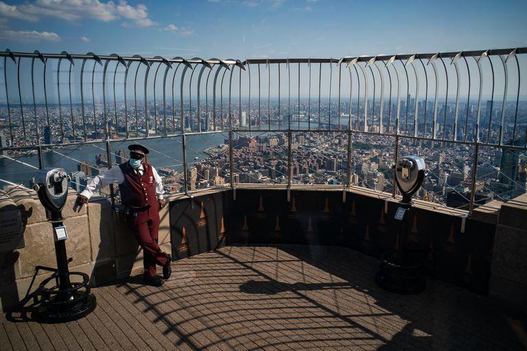 La vista desde el mirador del piso 86 del Empire State (Todd Heisler/The New York Times)