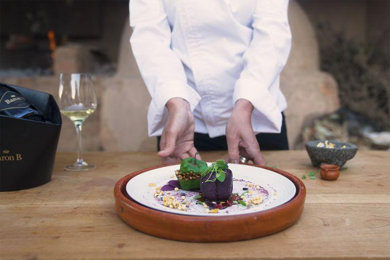 Plato ganador del Prix Baron B de Cuisine