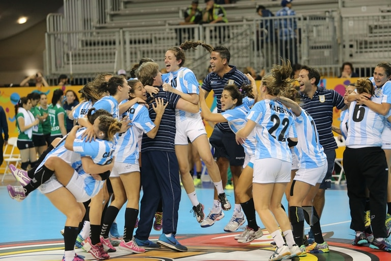 El festejo de La Garra tras lograr la clasificación a los Juegos Olímpicos