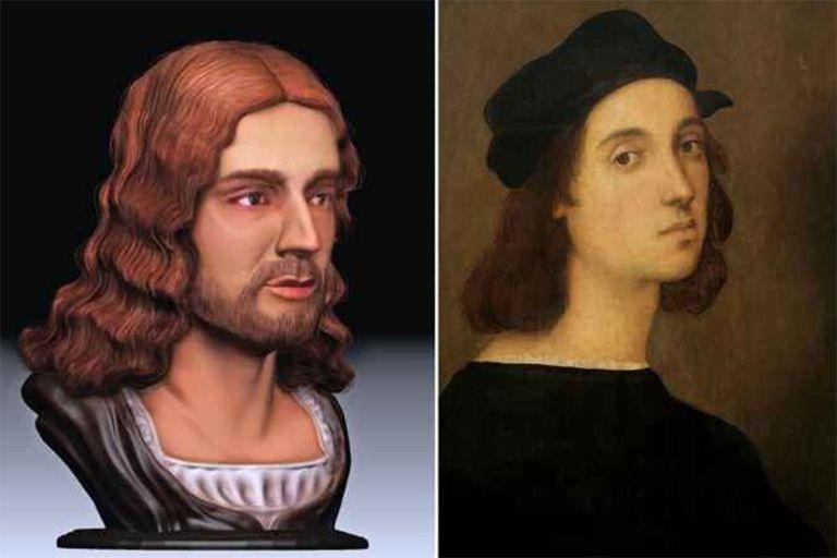 Reconstrucción en 3D de la cara de Rafael Sanzio según una reciente investigación