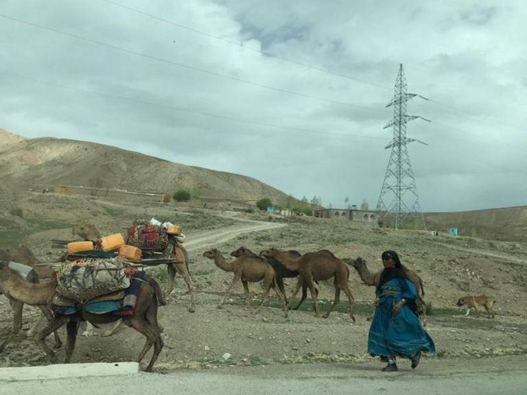 Imagen tomada por Bilal Sarwary en la carretera de Paktia-Gardia