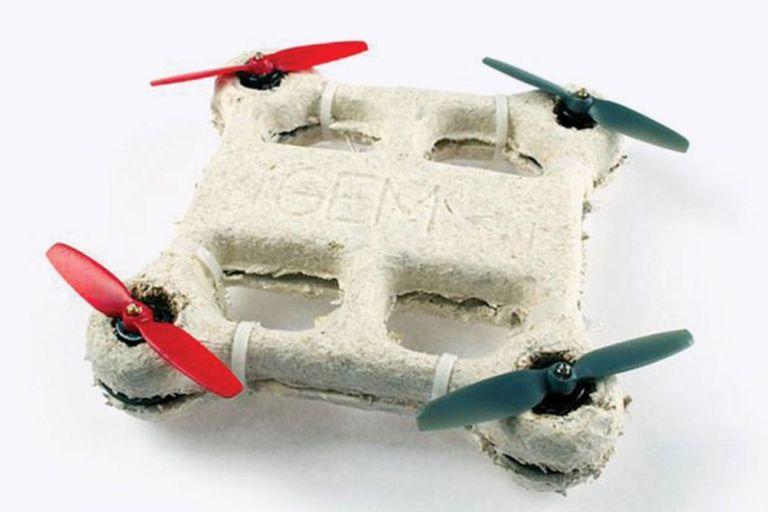 Un drone hecho con material biodegradable