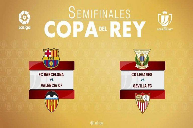 Barcelona jugará contra Valencia la semifinal de la Copa del Rey