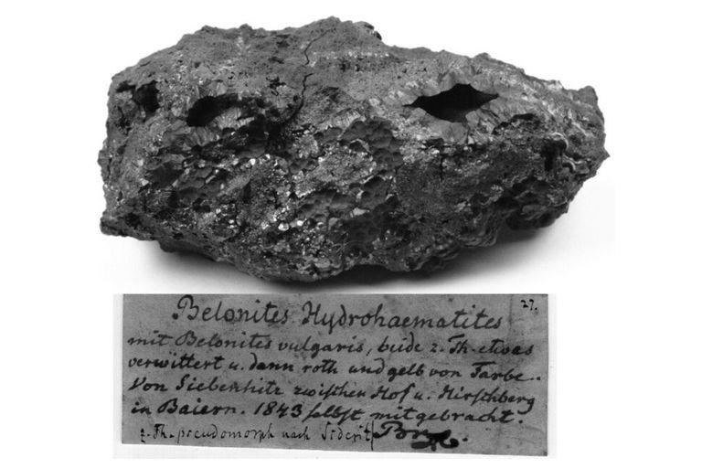 Un espécimen de hidrohematita descubierto por el mineralogista alemán August Breithaupt en 1843, que fue analizado en el nuevo estudio