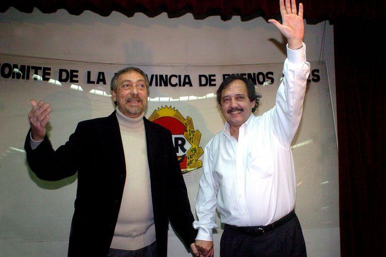 Luis Brandoni junto a Ricardo Alfonsín, cuando lanzaron su fórmula para gobernar la Provincia