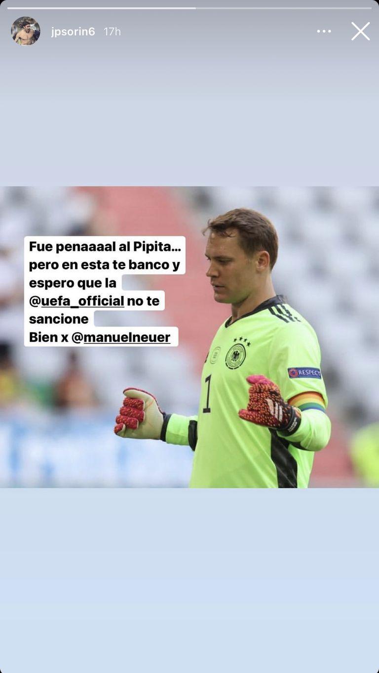 El mensaje de Sorín para Neuer