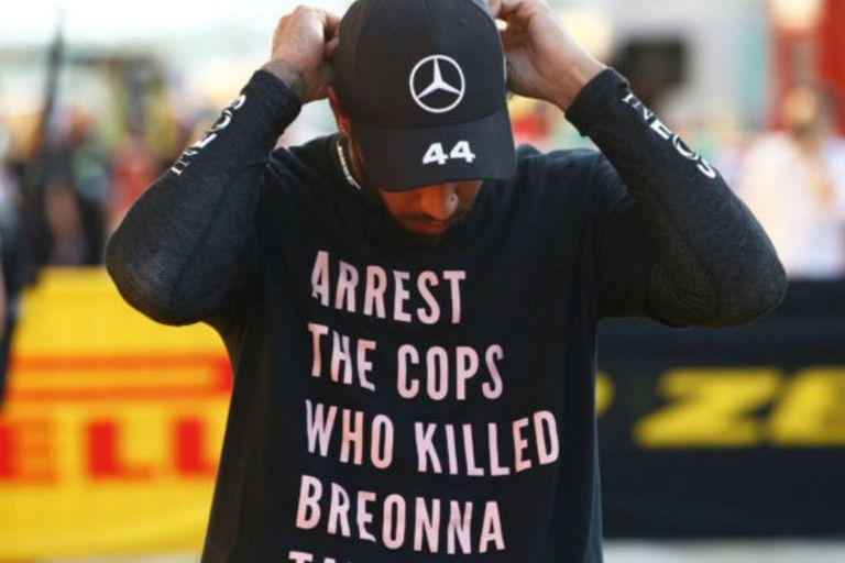 "El mensaje del piloto inglés que desató la polémica: ""Arresten a los policías que mataron a Breonna Taylor"""