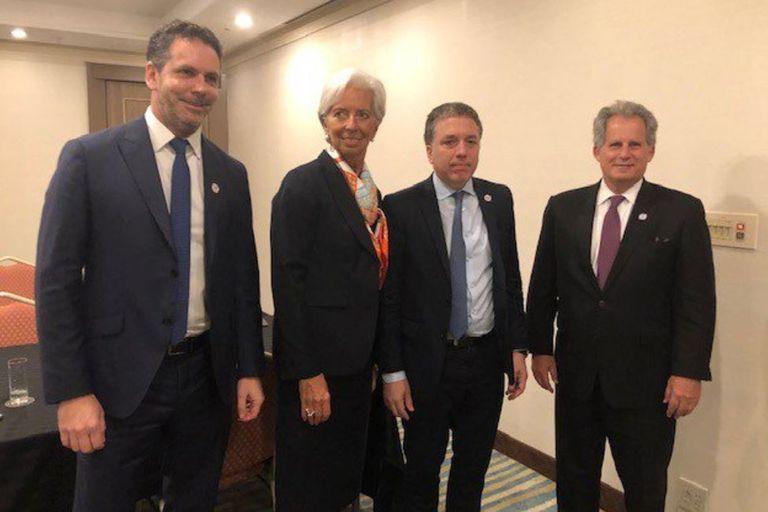 FMI: Dujovne y Sandleris se reunieron con Christine Lagarde en Japón