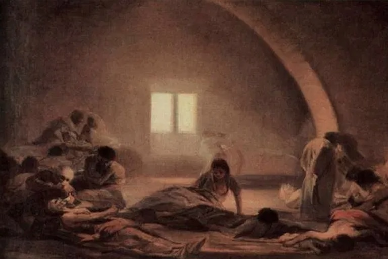 """Del """"Corral de apestados"""", de Goya (1798-1800), a obras de nuestro tiempo, el arte fue espejo a través de los siglos de las epidemias y enfermedades que afectaron a la humanidad"""
