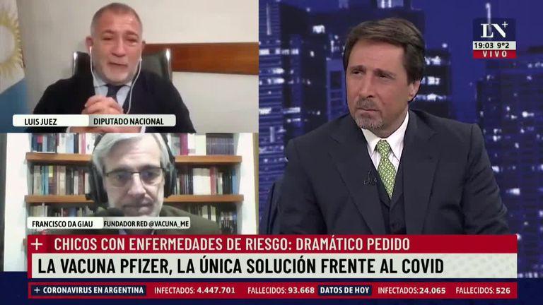 Luis Juez lloró al aire en el programa de Feinmann