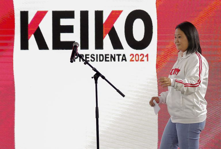 La candidata Keiko Fujimori