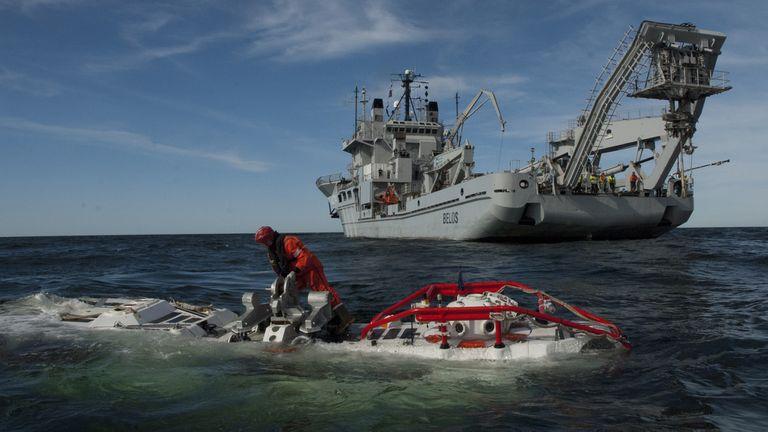 El Nato Submarine Rescue System de Francia es una de las tecnologías de búsqueda más avanzadas del mundo