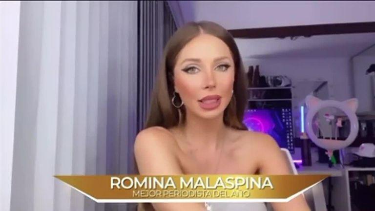 Romina Malaspina ganó un premio como mejor periodista