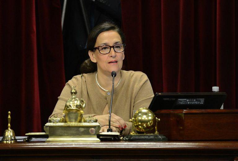 Gabriela Michetti, ayer, durante el debate en el recinto