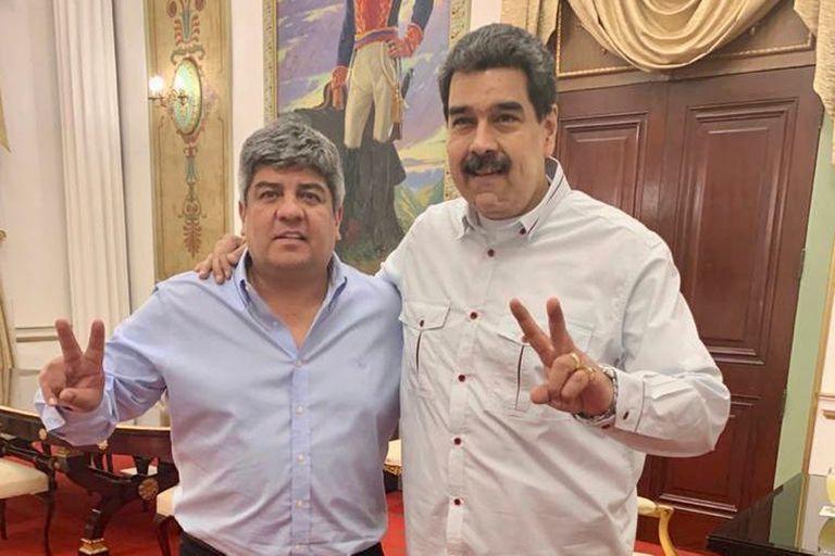 El número dos del gremio de camioneros fue recibido en Caracas por el presidente venezolano