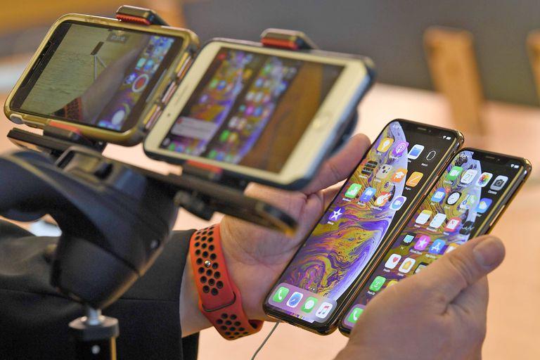 La imagen oficial utilizada por Apple en los teléfonos iPhone XS y XS Max, durante el lanzamiento oficial del equipo