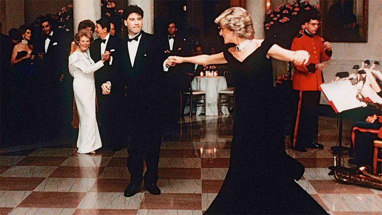 El día en que Lady Di bailó con John Travolta en la Casa Blanca