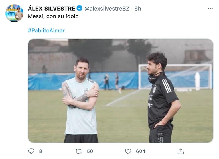 Los comentarios en las redes sobre la foto de Messi y Aimar