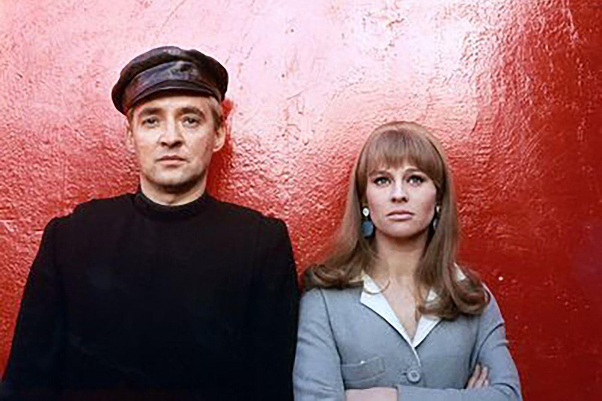 """""""Fahrenheit 451"""" Los portagonistas de la pelicula Oskar Werner y Julie Christie , en 1966"""