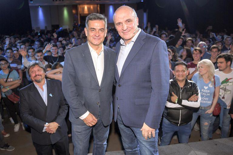 José Luis Espert y Luis Rosales eligieron Palermo para cerrar su campaña