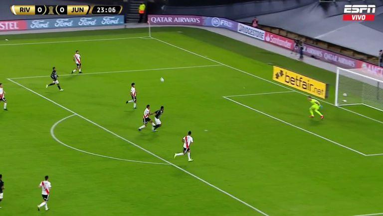 El penal no sancionado de Martínez a Borja