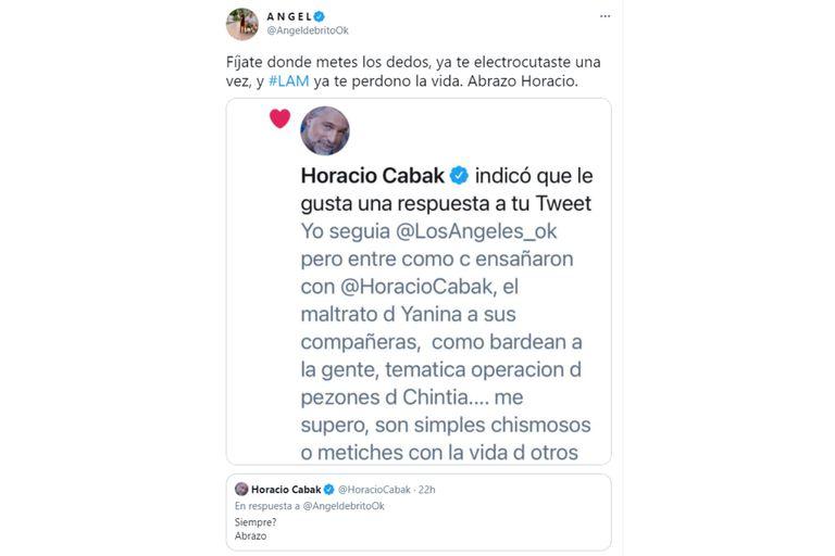 de Brito sumó una nueva captura de un tuit de Cabak