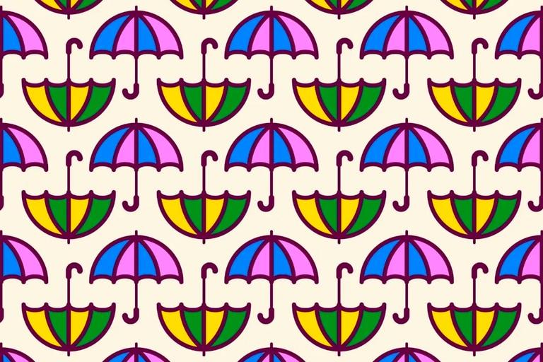 Para que el diseño de los paraguas no te confunda deberás prestar atención a los más mínimos detalles