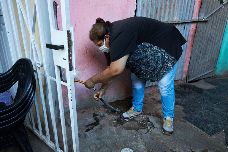 Cuando Ramona Medina denunciaba la falta de agua en el Barrio 31