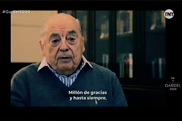 Juan Carlos Saravia fue homenajeado en los Premios Gardel 2020
