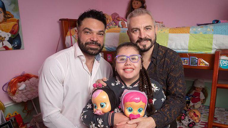Una pareja de Mendoza adoptó a una chica con leucemia y ella se curó.