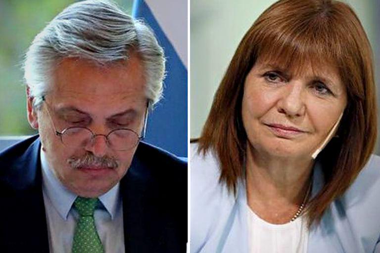 El presidente Alberto Fernández y Patricia Bullrich