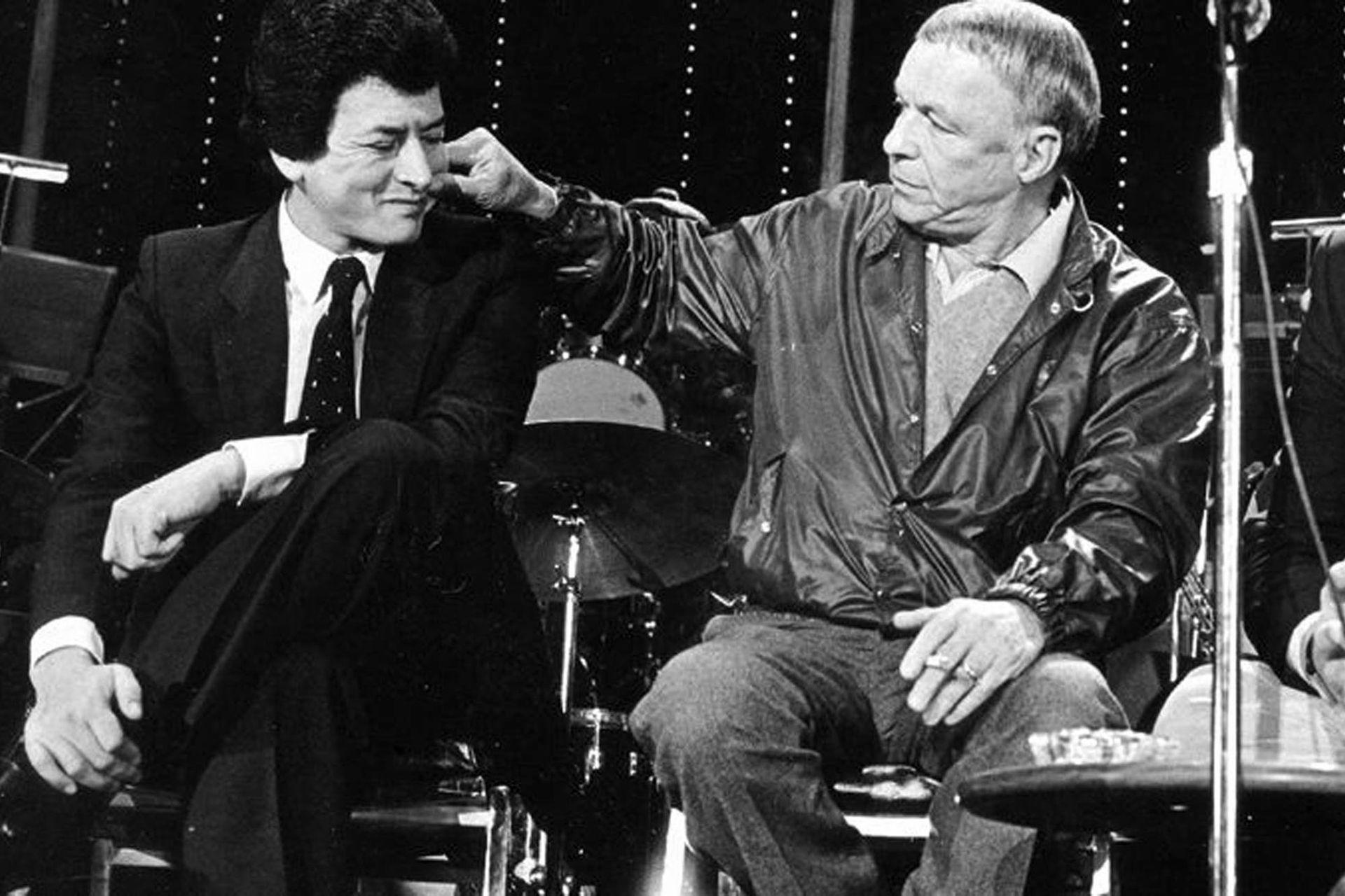"""Palito Ortega y Frank Sinatra. """"El Rey"""" contrató a """"La Voz"""" y, devaluación del peso mediante, quebró"""
