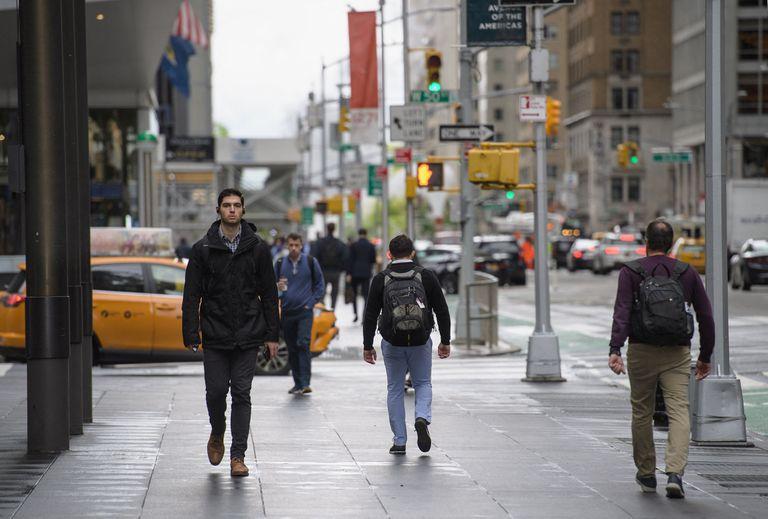 Peatones en el Midtown Manhattan