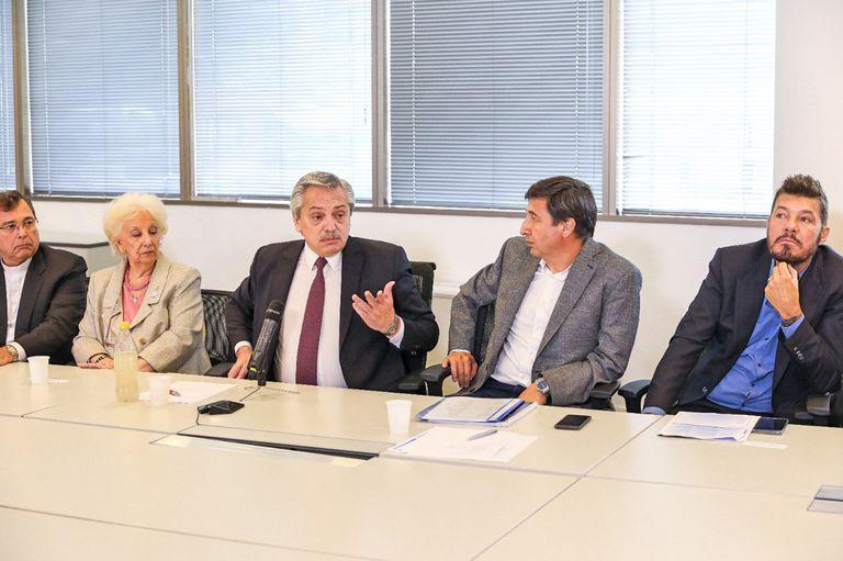Alberto Fernández se reunió con Marcelo Tinelli por el plan de lucha contra el hambre