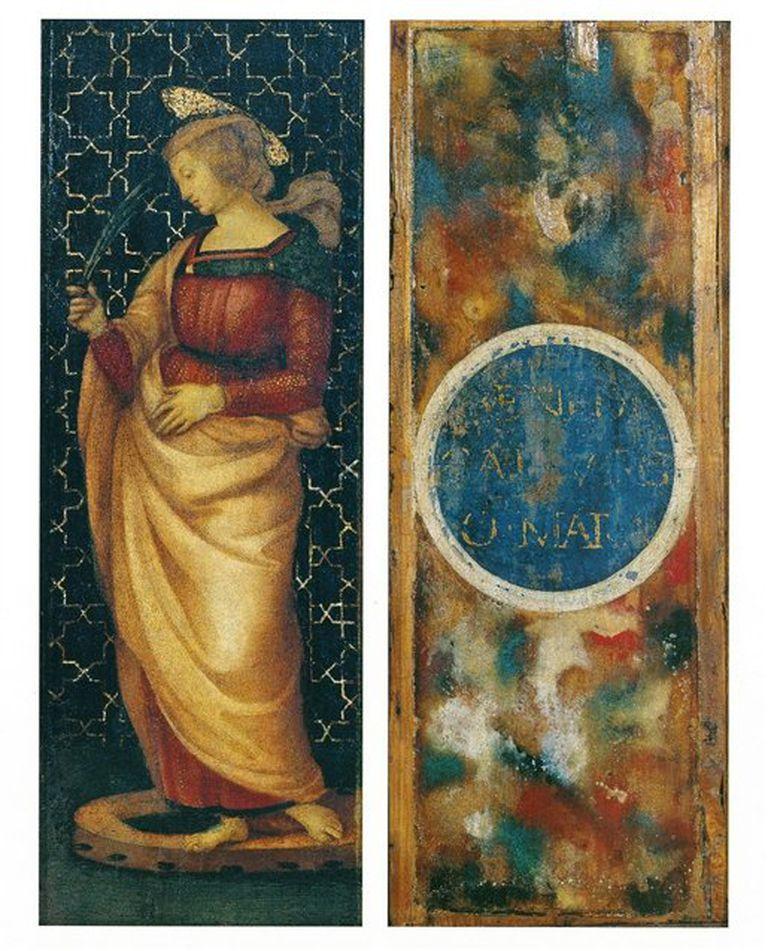 Santa Catalina de Alejandría, Rafael Sanzio, 1500-1503, óleo sobre tabla