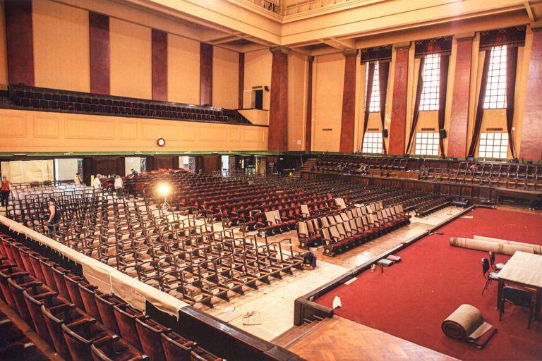 Vista de la majestuosa sala durante la restauración en el que intervino parte del equipo que trabajó en el masterplan del Teatro Colón
